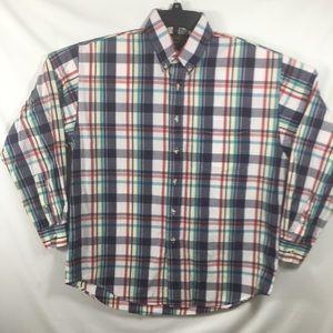 Eddie Bauer Marin Poplin Plaid Shirt